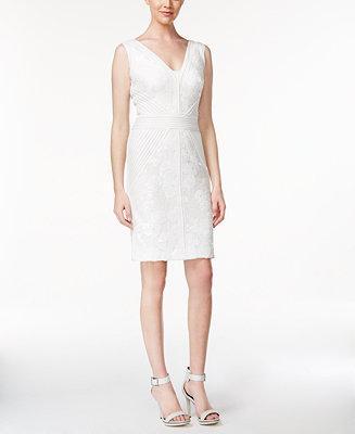 Hochzeit - Calvin Klein Sequined Lace Bodycon Dress