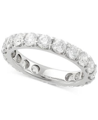 Свадьба - Macy's Diamond Eternity Band (3 ct. t.w) in 14k White Gold