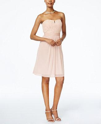 Adrianna Papell Adrianna Papell Strapless Lace A Line Dress