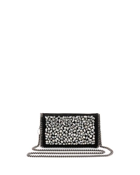 Wedding - Falabella Jeweled Crossbody Clutch Bag, Black
