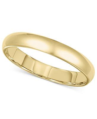 Mariage - 14k Gold 3mm Comfort Fit Wedding Band