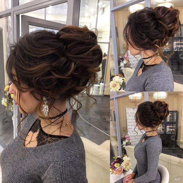 زفاف - hair bun