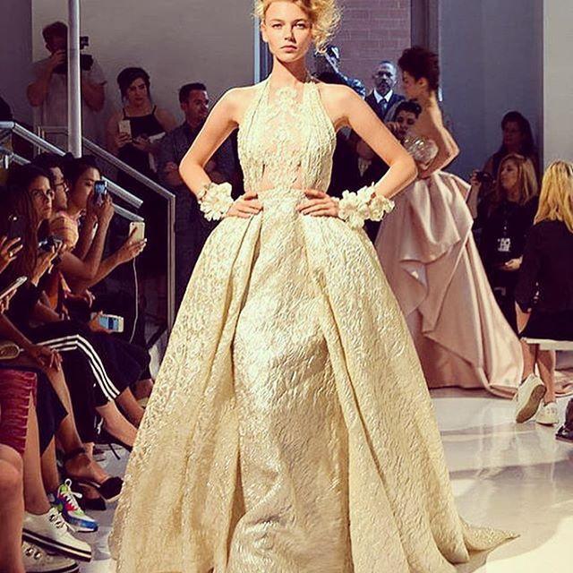 Wedding - golden dress