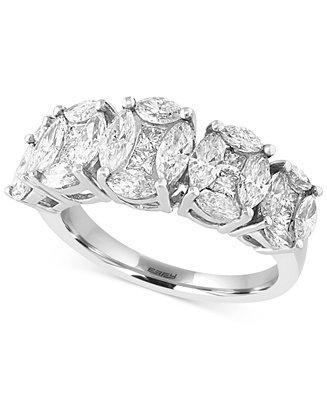 زفاف - EFFY Collection EFFY Diamond Five Stone Ring (2-1/4 ct. t.w.) in 14k White Gold