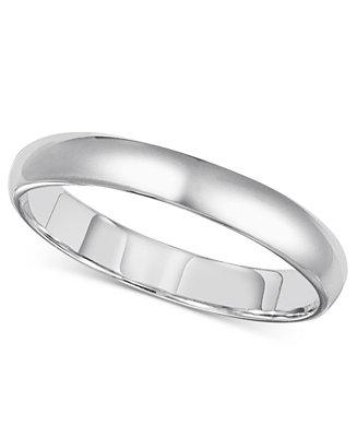 Mariage - 14k White Gold 3mm Comfort Fit Wedding Band