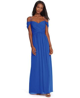 Wedding - Lauren Ralph Lauren Lauren Ralph Lauren Off-The-Shoulder Georgette Gown