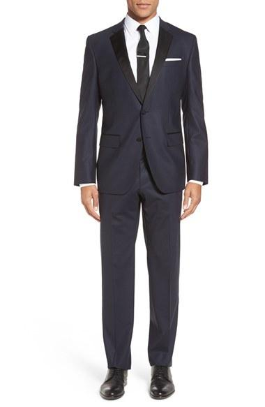 Wedding - BOSS 'Haakon/Grady' Trim Fit Wool Blend Tuxedo