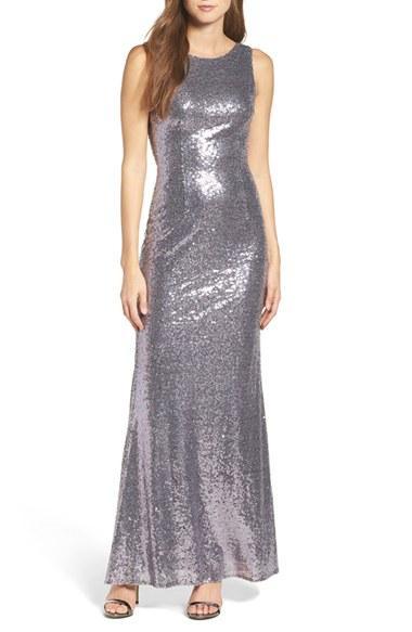 Свадьба - Lulus Sleeveless Sequin Drape Back Gown
