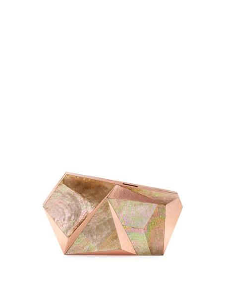 Wedding - Azura Asymmetric Minaudiere, Rose Copper