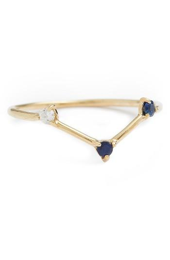 Mariage - WWAKE Counting Collection Three-Step Triangle Sapphire & Diamond Ring