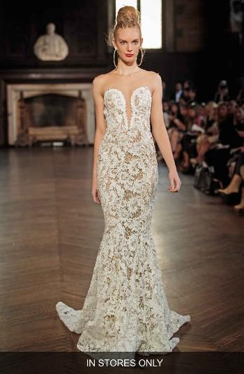 Wedding - Berta Illusion Lace Mermaid Gown (In Stores Only)