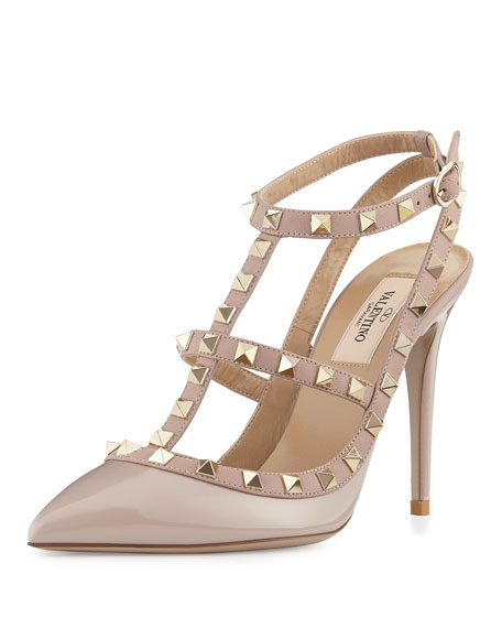 Mariage - Rockstud Leather 100mm Pump