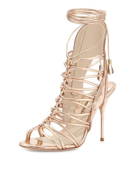 Свадьба - Lacey Lace-Up Gladiator Sandal, Rose