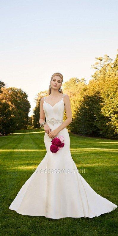 زفاف - Mikado Fit and Flare Wedding Dress By Camille La Vie