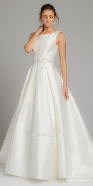 Mikado Box Pleat Wedding Dress By Camille La Vie 2712328 Weddbook