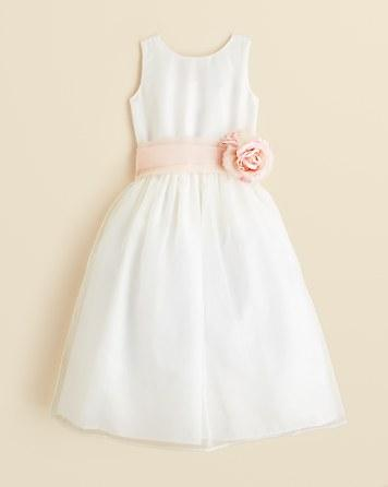 Wedding - US Angels Girls' Mix & Match Organza Dress, Sash & Rosebud - Little Kid
