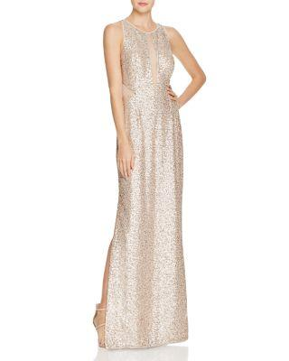 Düğün - Aidan Aidan Sequin Illusion Gown