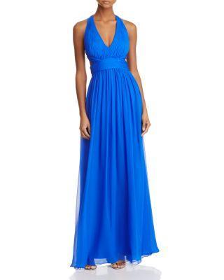 Mariage - Aidan Mattox Cutout Silk Gown