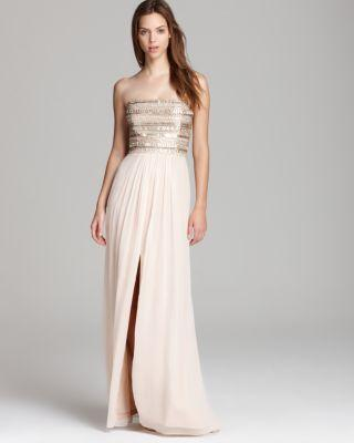 Mariage - Aidan Mattox  Strapless Gown - Beaded Bodice