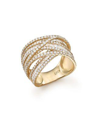 Wedding - Bloomingdale's Diamond Baguette and Round Statement Ring in 14K Yellow Gold, 2.70 ct. t.w. - 100% Exclusive