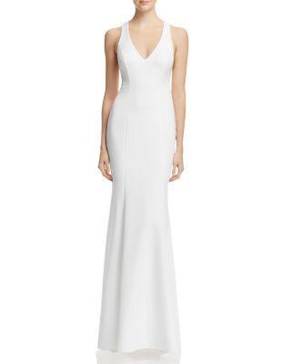 Wedding - Avery G V-Neck T-Back Gown