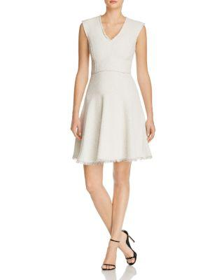 Hochzeit - Rebecca Taylor Tweed Fit-and-Flare Dress