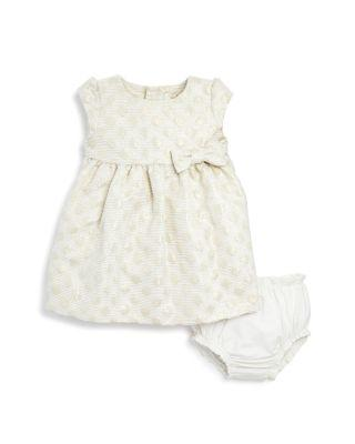 Wedding - kate spade new york Girls' Metallic Dot Jacquard Dress & Bloomer Set - Baby
