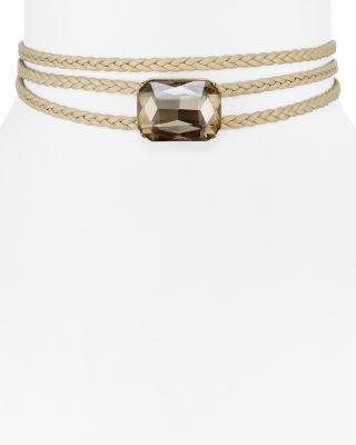 "Свадьба - AQUA January Triple Braid Stone Choker Necklace, 12"" - 100% Exclusive"
