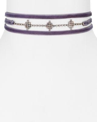 """زفاف - AQUA Juniper Velvet Choker Necklace, 12"""" - 100% Exclusive"""