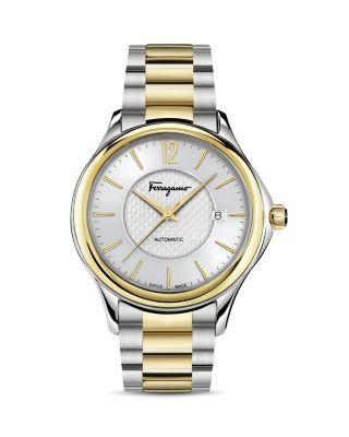 زفاف - Salvatore Ferragamo Time Two-Tone Automatic Watch, 41mm