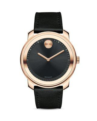 Mariage - Movado BOLD Museum Dial Watch with Leather Strap, 42.5mm