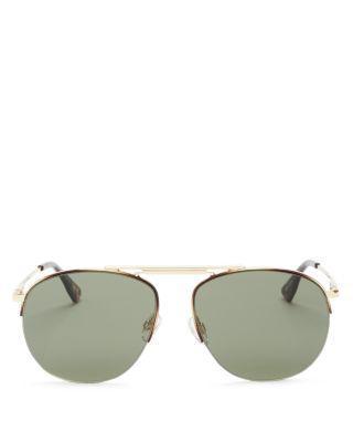 زفاف - Le Specs Liberation Mirrored Aviator Sunglasses, 57mm