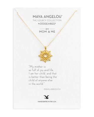 """Wedding - Dogeared Maya Angelou Legacy Collection """"On Mom & Me"""" Necklace, 18"""""""