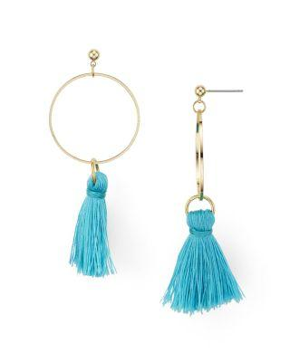 Wedding - AQUA Larissa Tassel Hoop Earrings - 100% Exclusive
