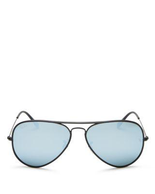 زفاف - Ray-Ban Mirrored Aviator Sunglasses, 58mm - 100% Exclusive