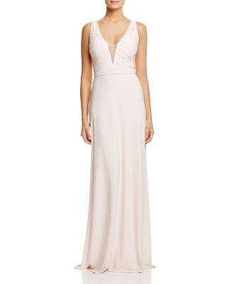 Mariage - Aidan Mattox Illusion-Inset Gown