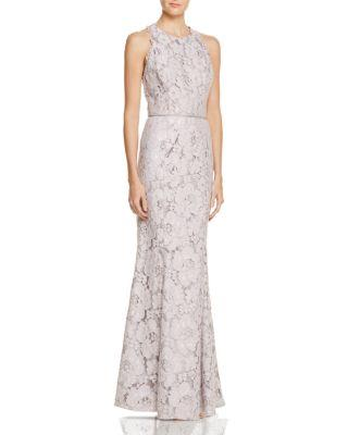 Hochzeit - JS Collections Lace Racerback Gown