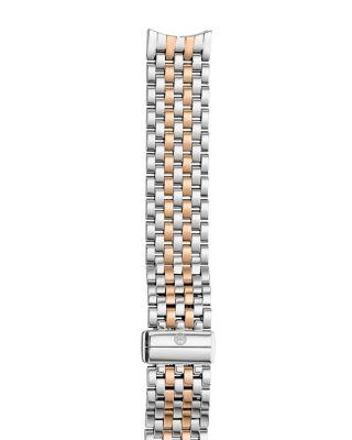 Mariage - MICHELE Sport Sail 18 Two-Tone Rose Gold Watch Bracelet, 18mm