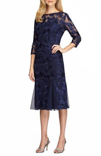 Wedding - Alex Evenings Lace Midi Dress