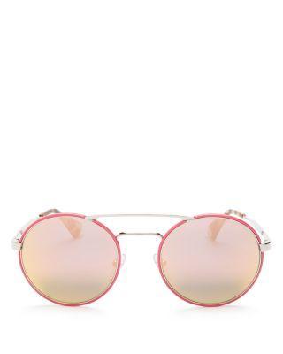 Свадьба - Prada Catwalk Round Sunglasses, 54mm