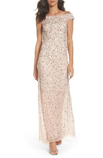 Wedding - Adrianna Papell Sequin Mesh Gown