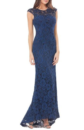 Wedding - Carmen Marc Valvo Infusion Lace Gown with Train