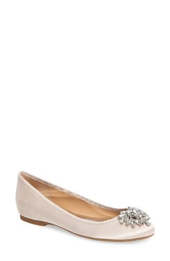 Wedding - Badgley Mischka Bianca Embellished Ballet Flat (Women)