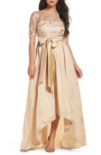 Hochzeit - Adrianna Papell Sequin Lace & Taffeta Ballgown
