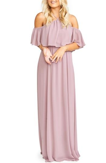 Wedding - Show Me Your Mumu Rebecca Off the Shoulder Chiffon Gown