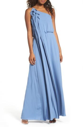 Wedding - BCBGMAXAZRIA Waterfall Ruffle One-Shoulder Gown