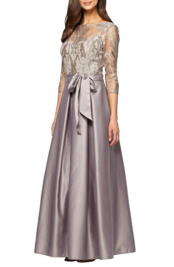 Mariage - Alex Evenings Embroidered Bodice Ballgown