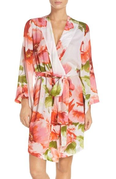 Wedding - Plum Pretty Sugar Floral Print Kimono Robe