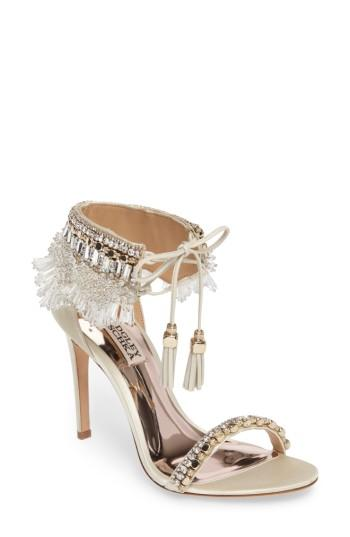 Свадьба - Badgley Mischka Katrina Embellished Tie Sandal (Women)
