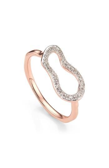 Wedding - Monica Vinader Riva Mini Pod Vermeil Diamond Ring